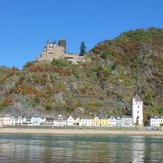 St. Goarshausen en kasteel Katz